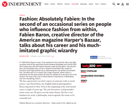 Fashion absolutely fabien in the second  Fabien