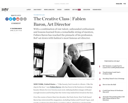 The creative class fabien baron art dire Fabien