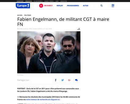 Fabien Engelmann de militant CGT a maire Fabien