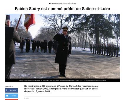 Fabien sudry est nomme prefet de saone e Fabien
