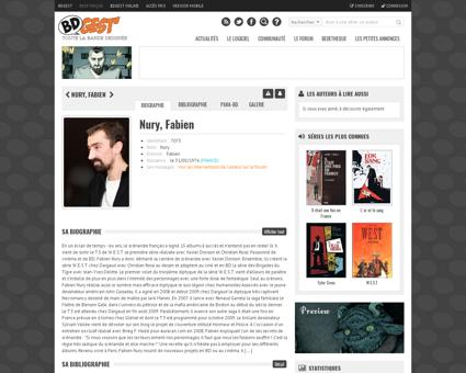 Auteur 7073 BD Nury Fabien Fabien