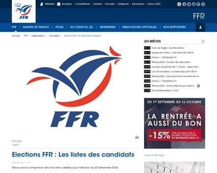 Elections FFR Les listes des candidats Fabien