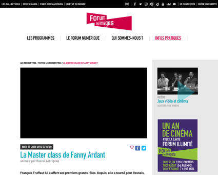 La master class de fanny ardant Fanny