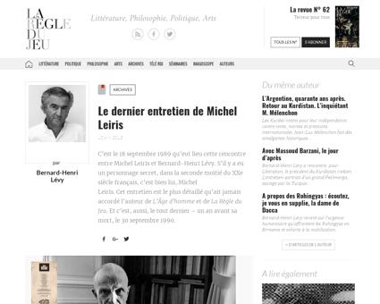 Archives le dernier entretien de michel  Georges