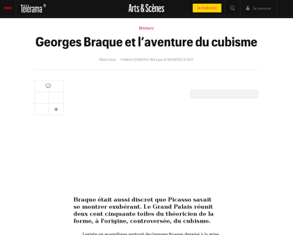 Georges braque et l aventure du cubisme, Georges
