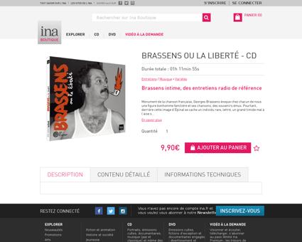 Brassens ou la liberte cd.fr Georges