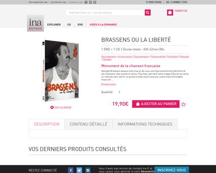 Brassens ou la liberte.fr Georges