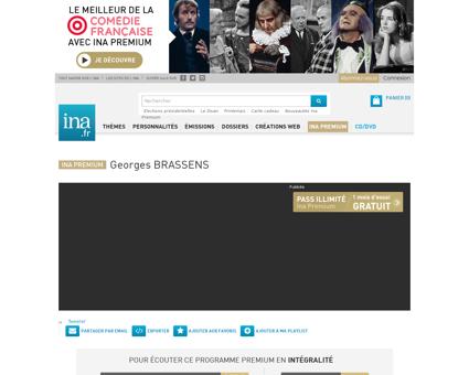 Georges brassens audio Georges