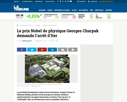 Le prix nobel de physique georges charpa Georges