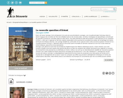 Index La nouvelle question d Orient 9782 Georges