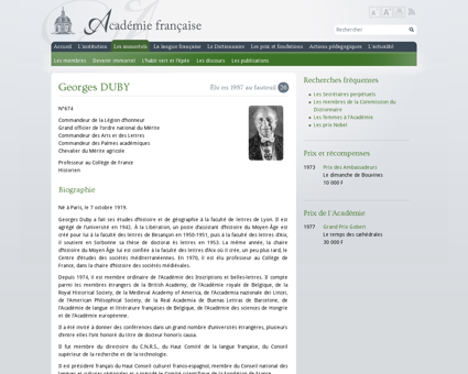 Georges duby?fauteuil=26&election=18 06  Georges