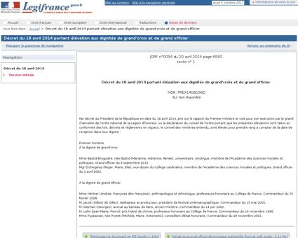 AffichTexte.do;jsessionid=?cidTexte=JORF Georges