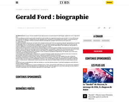 Gerald ford  biographie Gerald