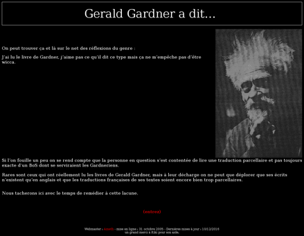Geraldgardner.free.fr Gerald