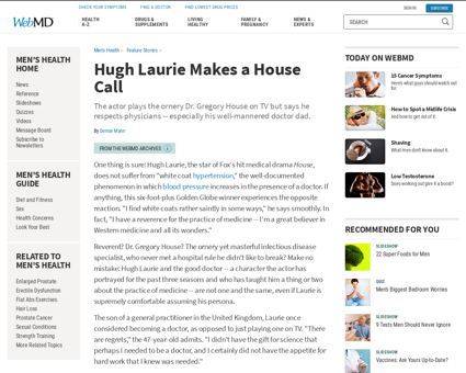 Hugh laurie interview?page=1 Gregory