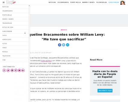 Jacqueline bracamontes sobre william lev Jacqueline