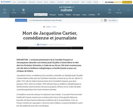 Jacqueline CARTIER
