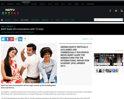 Barfi leads iifa nominations with 13 nod Jacqueline