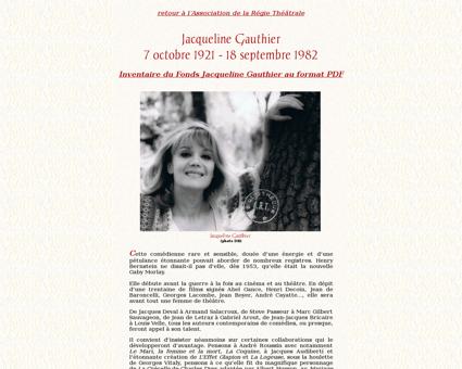 Jacqueline Gauthier Jacqueline
