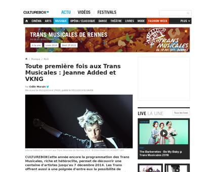 Toute premiere fois aux trans musicales  Jeanne