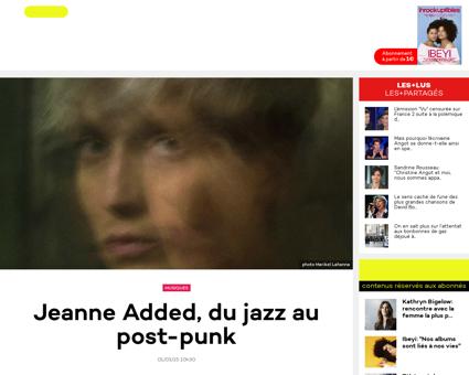 Nouvelle tete jeanne added du jazz au po Jeanne