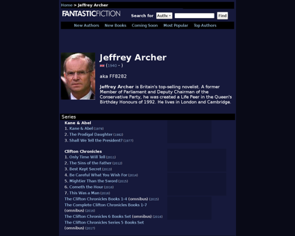 Jeffrey archer Jeffrey