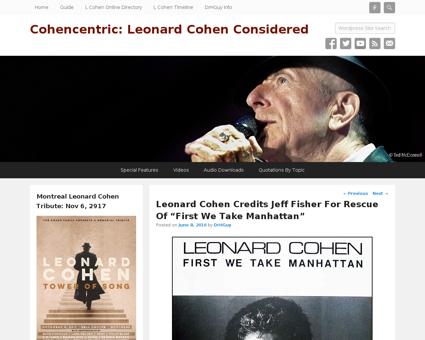 Leonard cohen credits jeff fisher rescue Jeffrey