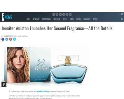 Jennifer aniston launches her second fra Jennifer
