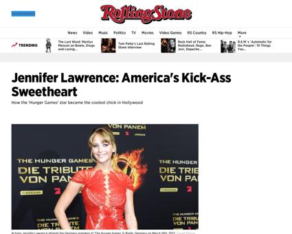 Jennifer lawrence americas kick ass swee Jennifer