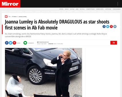 Joanna lumley absolutely dragulous star  Jennifer
