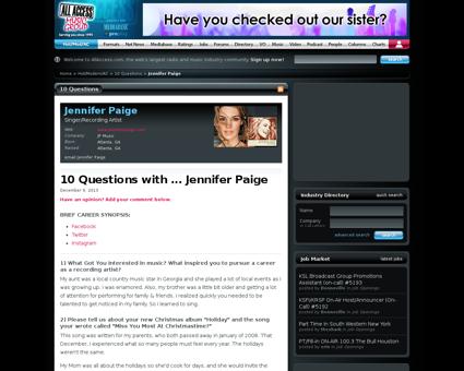 Search ?search=jennifer+paige&cat=s Jennifer