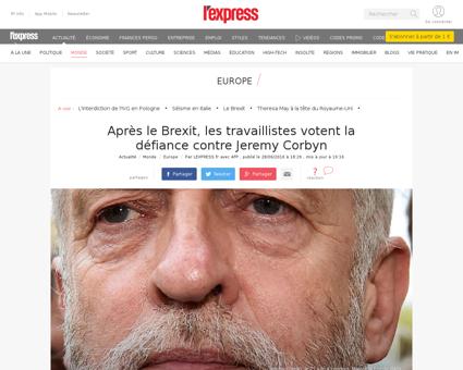 Critique apres la victoire du brexit jer Jeremy