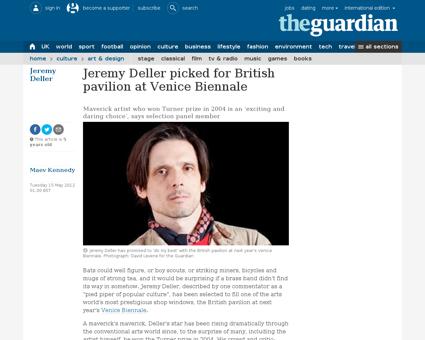 Jeremy deller british pavilion venice bi Jeremy