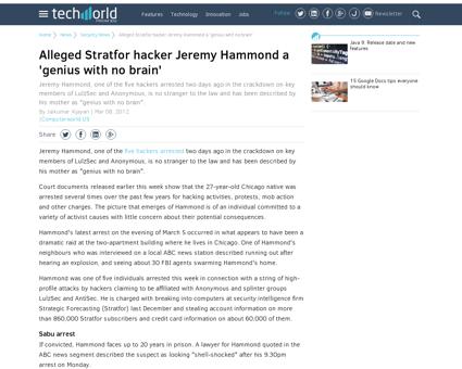 Alleged stratfor hacker jeremy hammond a Jeremy