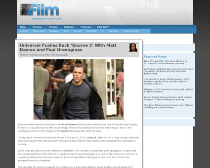 Bourne 5 release date Jeremy