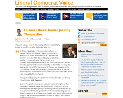 Former liberal leader jeremy thorpe dies Jeremy