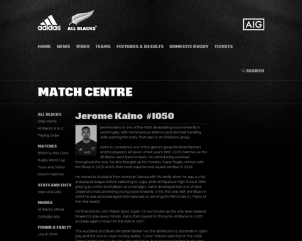 Stats.allblacks.com Jerome