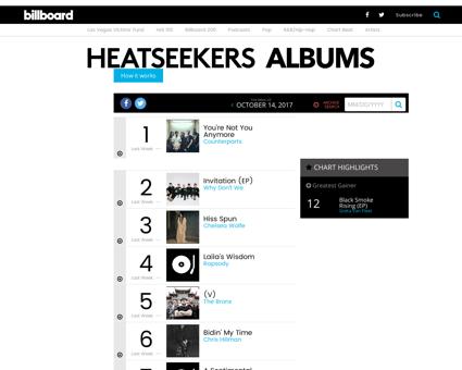 Heatseekers albums Jessica