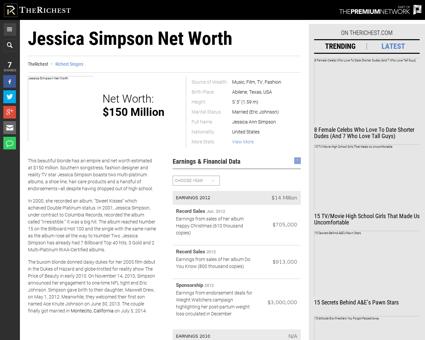 Jessica simpson net worth Jessica