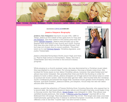 Biography Jessica