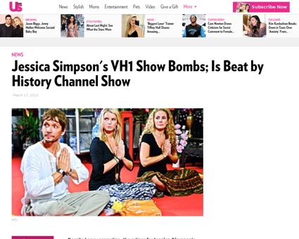 Jessica simpsons reality show bombs is b Jessica