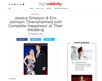Jessica simpson marries eric johnson san Jessica