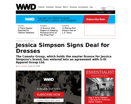 Jessica simpson signs deal for dresses 1 Jessica