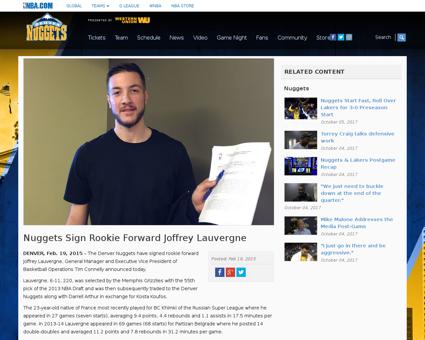 Nuggets sign rookie forward joffrey lauv Joffrey