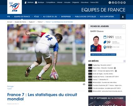 France 7 Les statistiques du circuit mon Joffrey