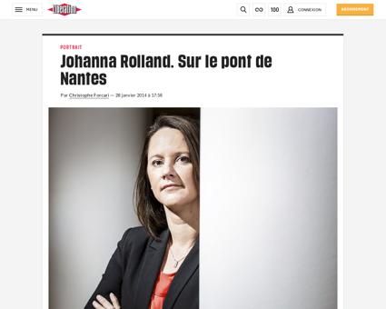 Johanna rolland sur le pont de nantes 97 Johanna