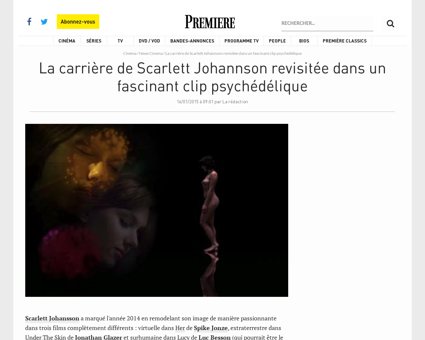 La carriere de Scarlett Johannson revisi Johanna