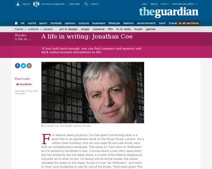 Life writing jonathan coe Jonathan