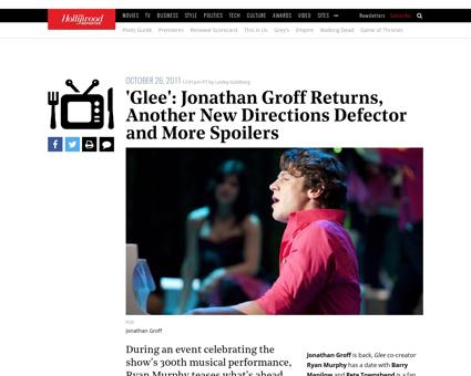 Glee jonathan groff spring awakening the Jonathan