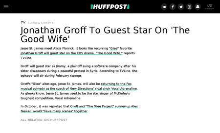 Jonathan groff the good wife guest star  Jonathan
